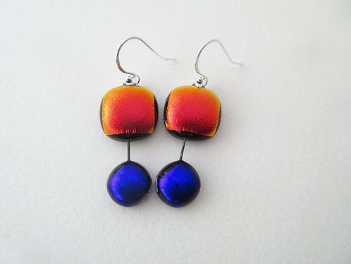 2 Drop Hanging Earrings