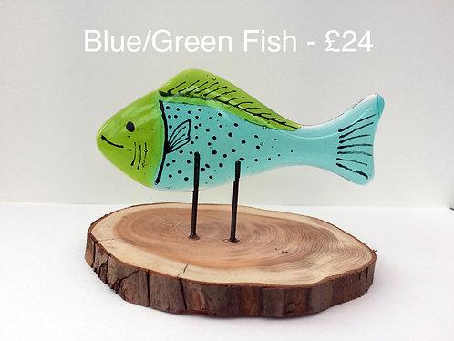Little Blue & Green Fish