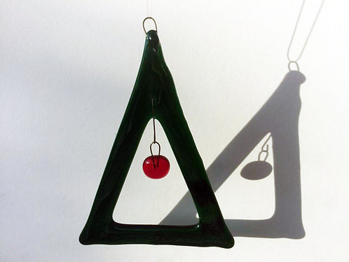 Hanging Red Bauble Xmas Tree