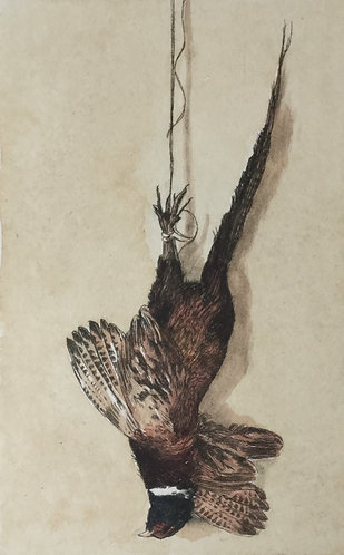 Greg Moore - Pheasant, Drypoint Etching