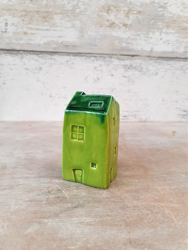 Ceri White Ceramics - Wee House Green