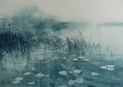 Greg Moore - Quiet Waters, Etching
