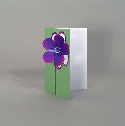 Pop Up 3d Card - Purple Flower