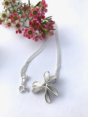 Ann Hume - Three Folded Petal Silver Pendant