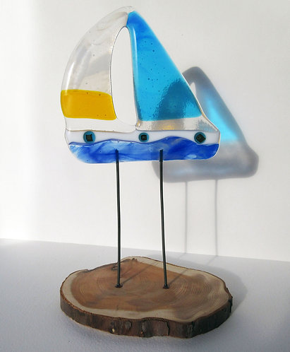 Fused Glass Yacht