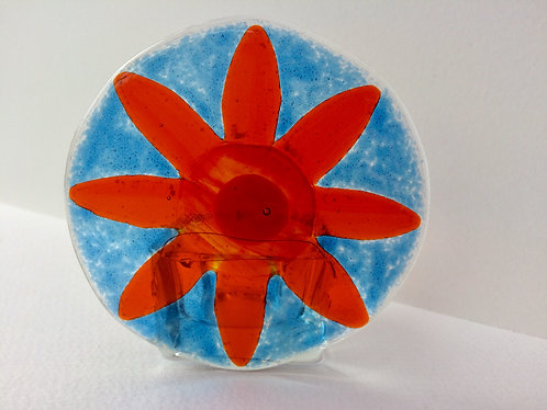 Orange Flower T-Light Candle Holder