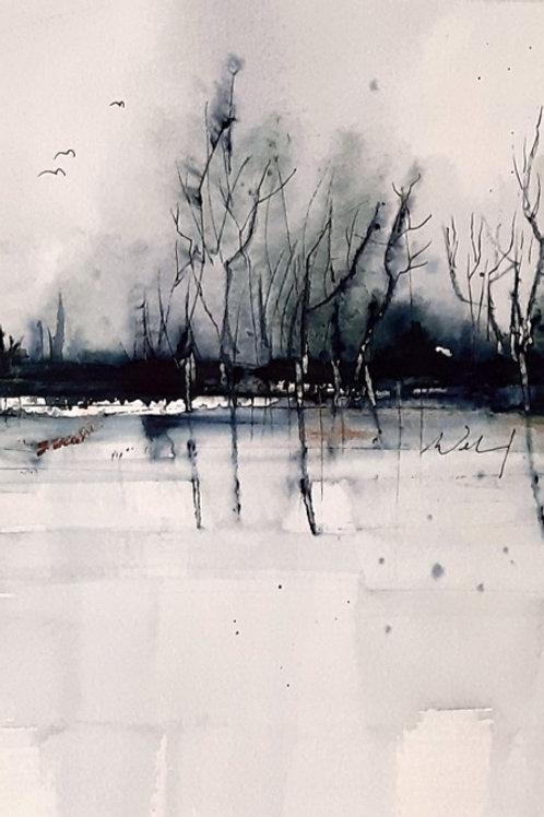 """Aquarell """"abstrakte Landschaft"""", 30cmx20cm"""