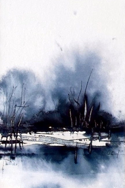 """Aquarell """"abstrakte Landschaft"""", 24cmx18cm"""