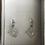 Thumbnail: Silberohrringe Rechteck mit weißen Süßwasserzuchtperlen