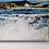 """Thumbnail: Acrylbild """"Fjord"""", 30cmx60cmx2cm im weißen Rahmen"""