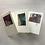 "Thumbnail: Kartenbox ""Acryl-Quadrat"",     3 verschiedene KlappkartenA6 mit Ums"