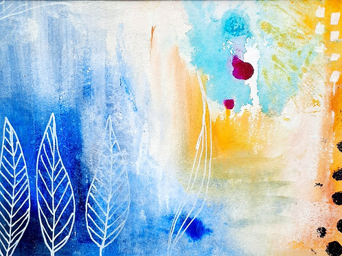 Aquarell Abstrakt Colourful Nr.4, 20cmx30cm