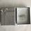 Thumbnail: Silberkette Rechteck mit weißen Süßwasserzuchtperlen