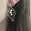 Thumbnail: Silberohrringe Blatt mit weißen Perlen