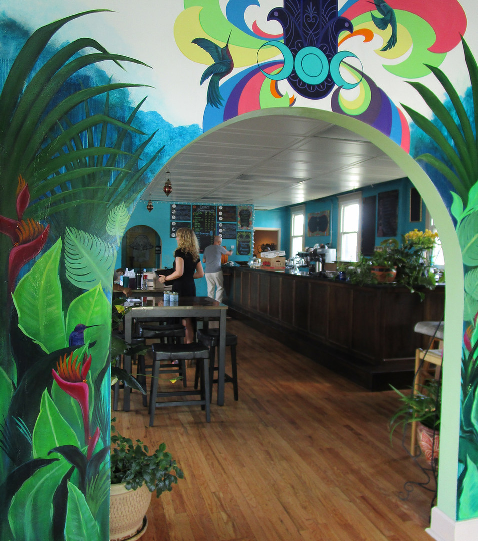 Gypsy House Cafe Mural Archway