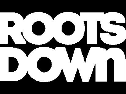 Roots Down Wordmark White