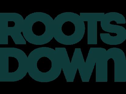 Roots Down Wordmark Green