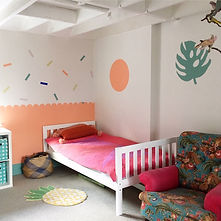 kids room scalloped wall.JPG