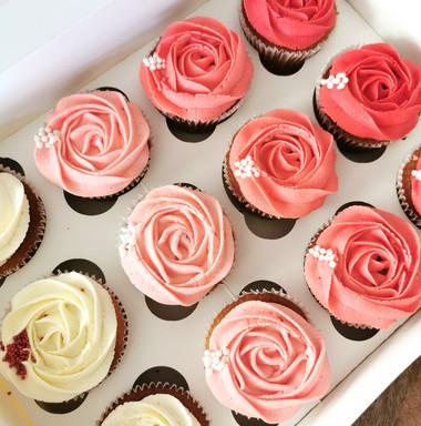 Ombré Vanilla Cupcakes