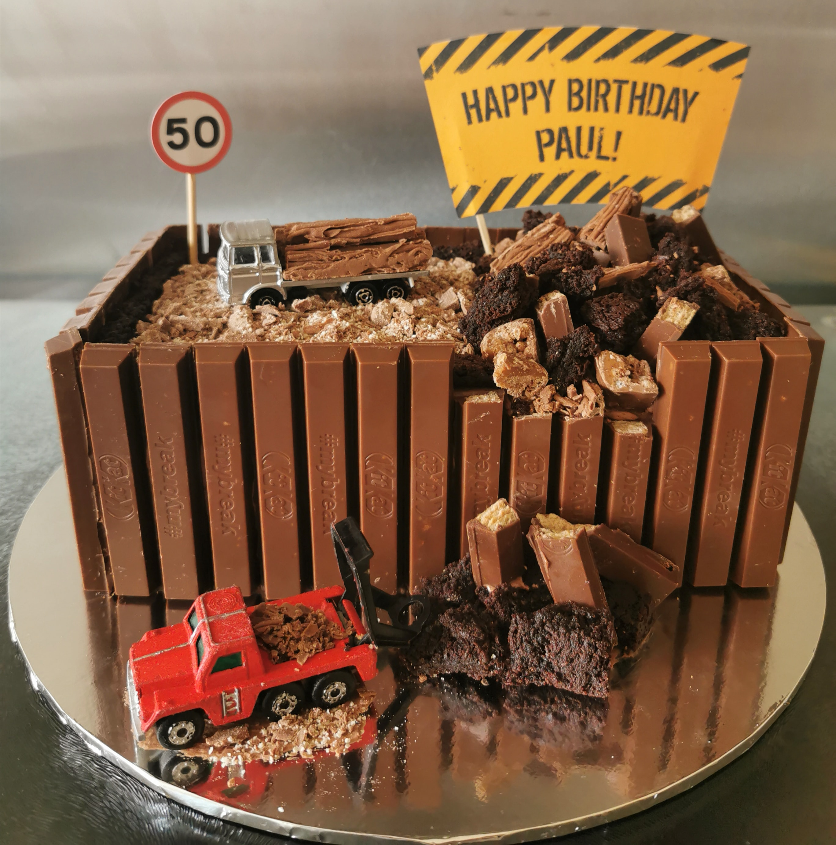 Chocolate Mud Lorry Cake