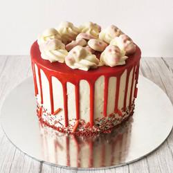 Red Velvet Skull Cake