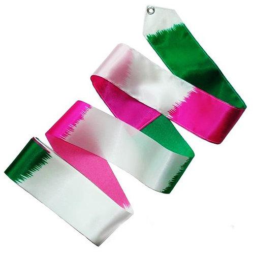 Multicoloured Ribbon - Fuchsia/White/Green