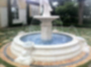 Basin fountain designed and installed by Florida Water Features