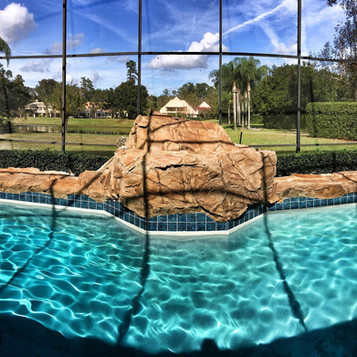 Rock formations for existing pools