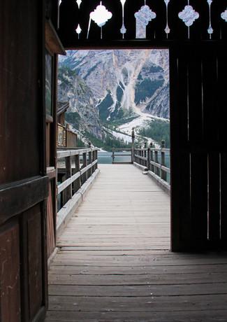 Ausblick Richtung Pragser Wildsee in Südtirol