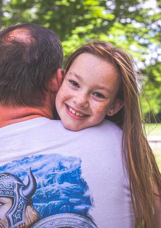 Vater, Tochter, Wikinger