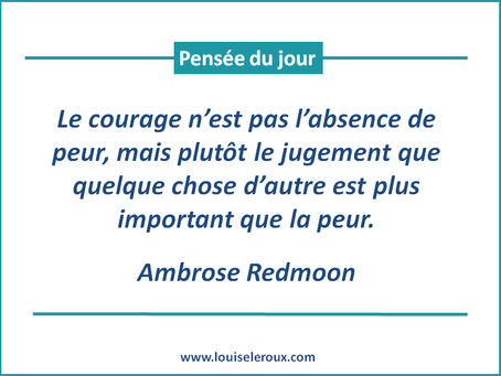 Le courage