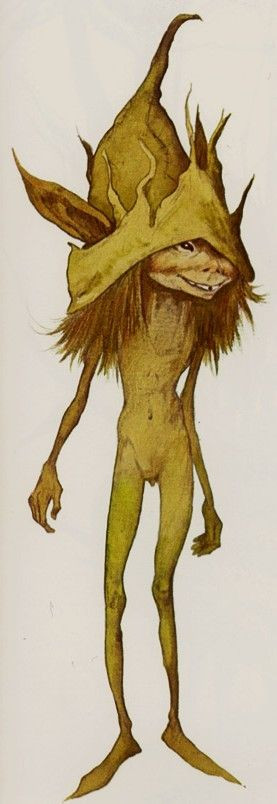 """Brian Froud, """"Cornish Pixie"""", from Fairies (2009 Collector's Edition) by Brian Froud and Alan Lee"""