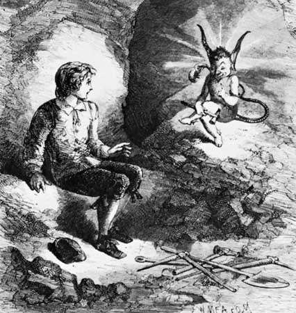"""W. Meason, """"A Peep at the Pixies"""", from A Peep at the Pixies (1853 edition) by Anne Eliza Bray"""