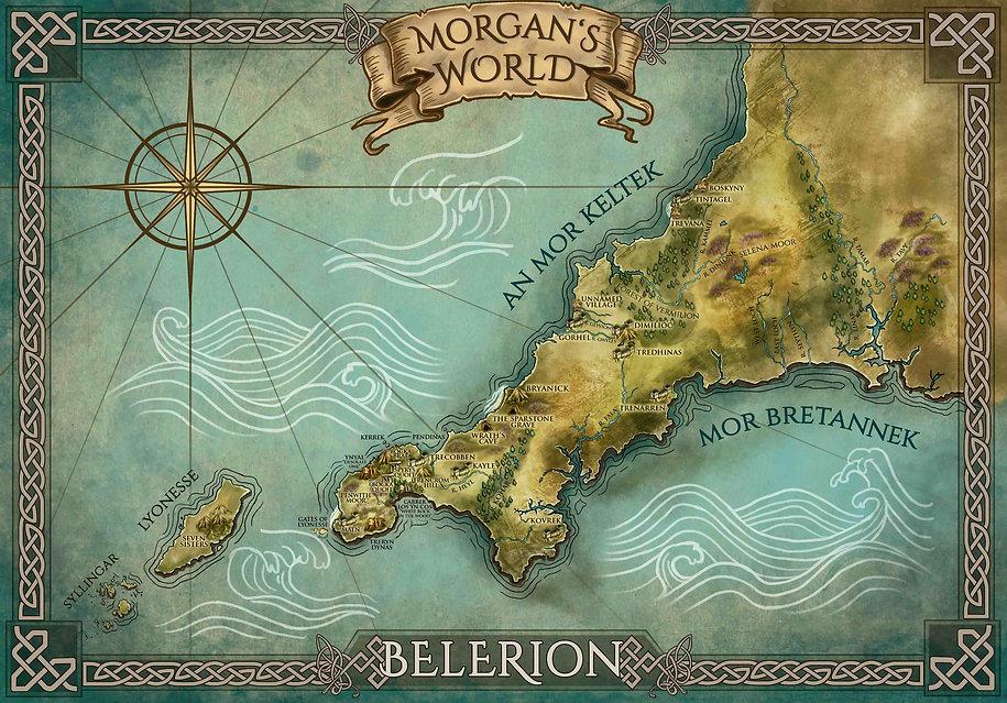 Map - Morgan le Fay's Cornwall