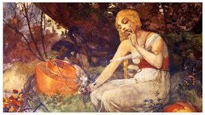 Ganieda, Prophetess. Alphonse Muchaeg