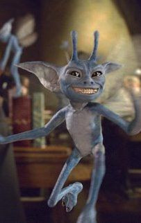 """Cornish Pixie"""", still taken from Harry Potter and the Chamber of Secrets (Warner Bros, 2002)"""
