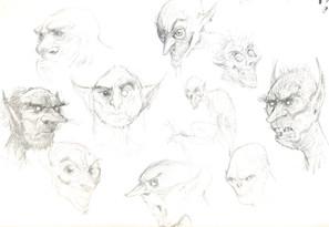 Goblin Face Concepts