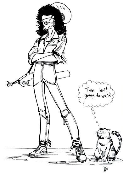 Jim as Ellen Ripley