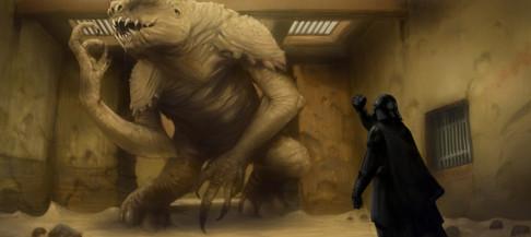 Darth Vader vs. the Rancor