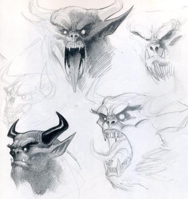 Demon Concept Sketches