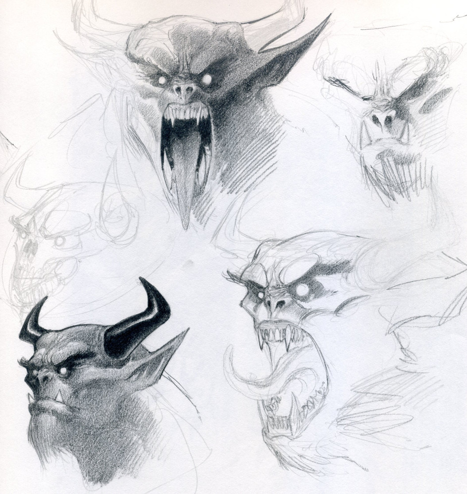 Demon Concept Sketches