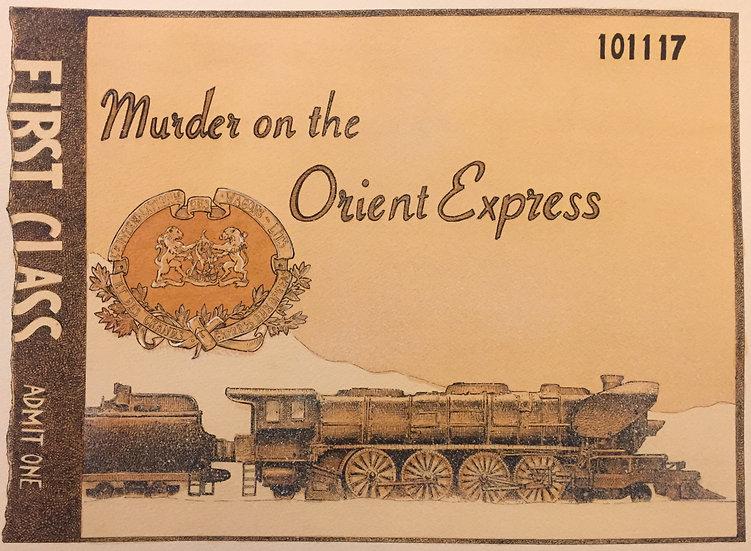 Murder on the Orient Express Poster (Original)