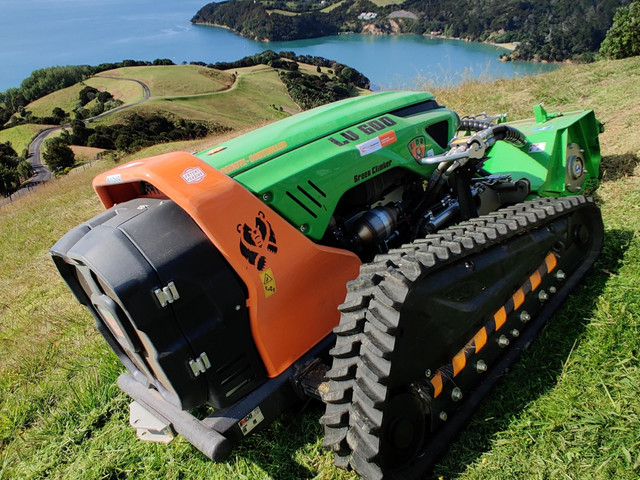 Steep slope mowing