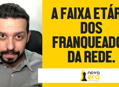 A Faixa Etária dos Franqueados da Rede.