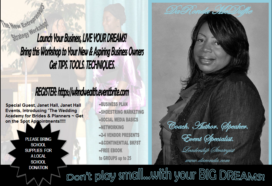 Launch your business flyer