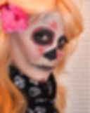 glam sugar skull makeup done for halloween