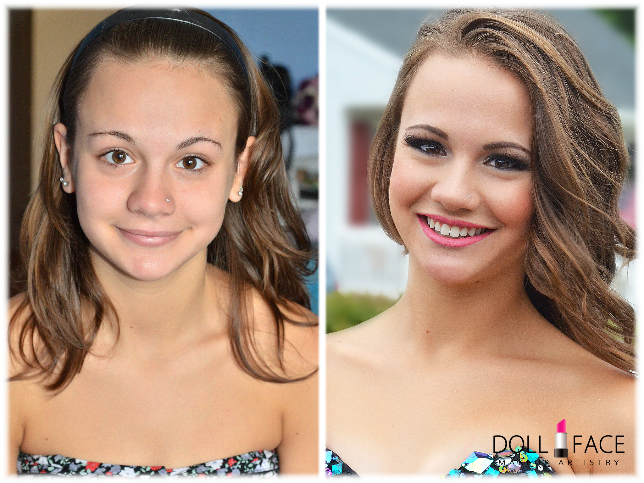 Prom Makeup before and after NJ