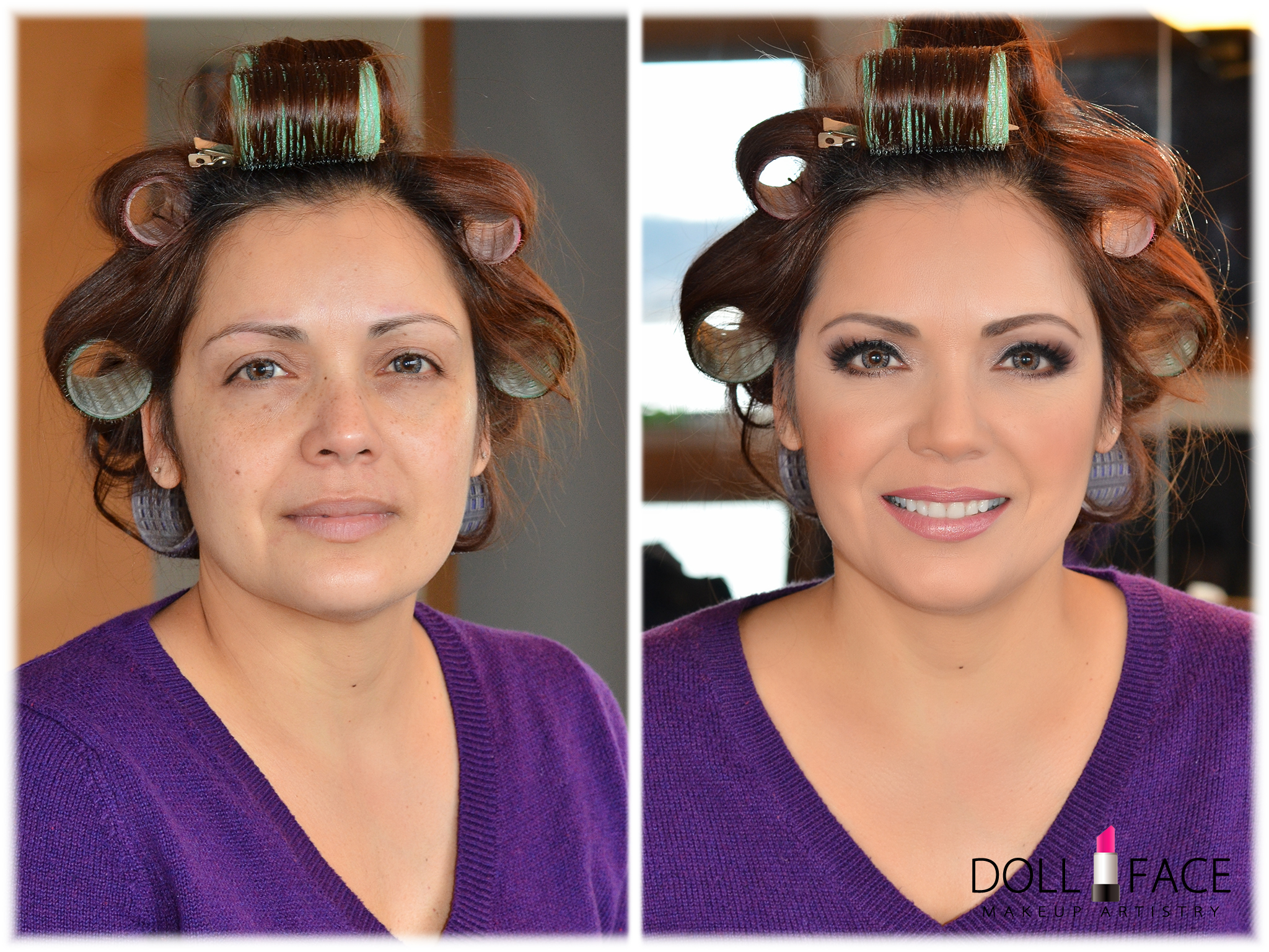Before and After Bridal Makeup Trial
