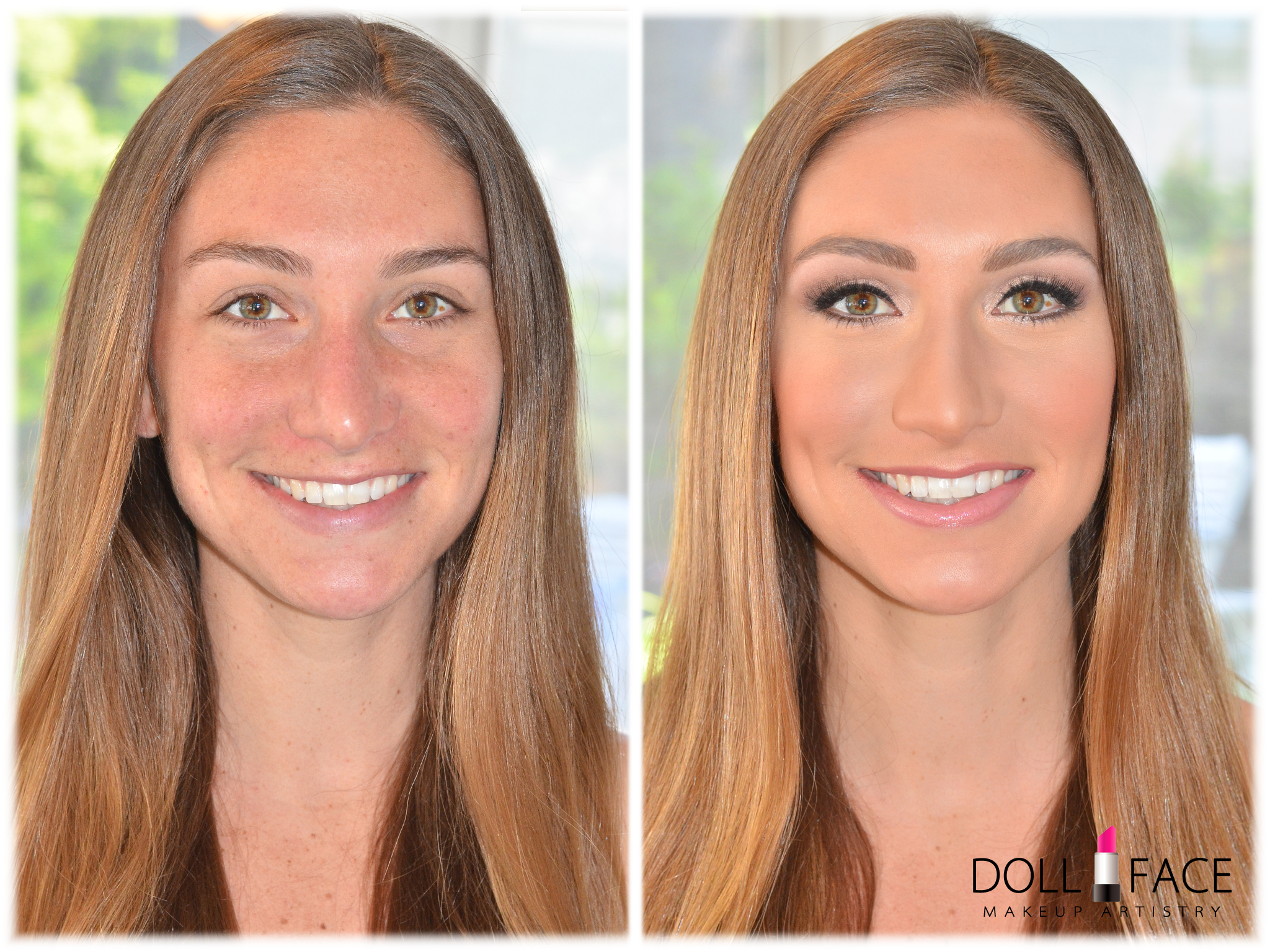 Bridal Makeup Trial before and after