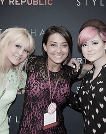 Danielle and Diane Radice attending IMATS, professional makeup artist show in new york